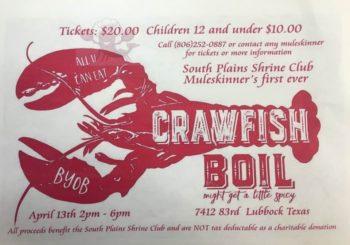 South Plains Shrine Club Inaugural CRAWFISH BOIL