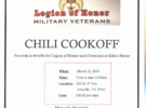 Legion of Honor Chili Cook Off